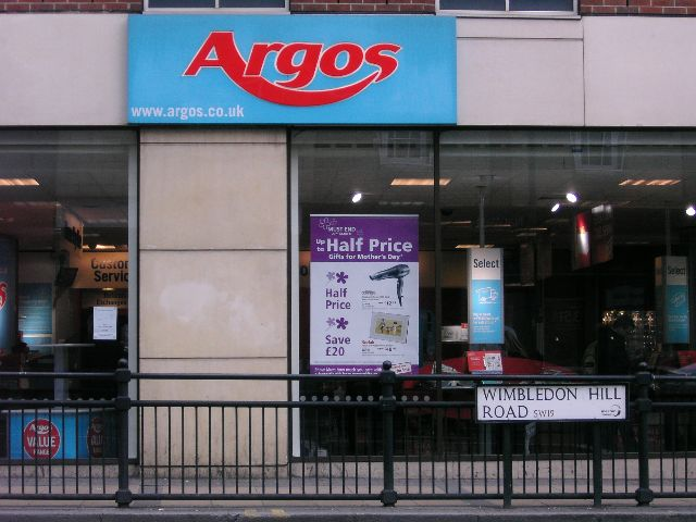 retailers in UK picture Argos